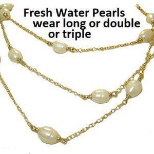 NWT fresh water pearl necklace mx signature